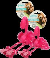 Flamingo (S) met poten van touw
